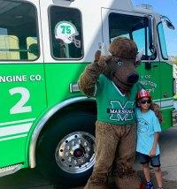 Huntington Dedicates Green Fire Engine