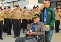 Honor Flight Takes Off at Tri State Airport Images