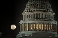 Full Moon at U.S Capitol