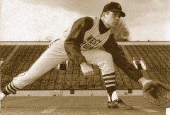 John Raese, playing baseball for WVU