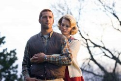 "Matthew Fox and January Jones in ""We Are Marshall"""