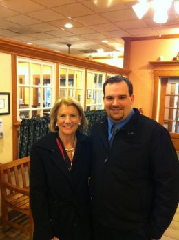 Shelly Moore Capito and Dale Anderson II at Bob Evans