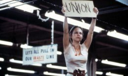 "Sally Field as ""Norma Rae"" in a pivotal scene from the movie."