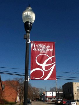Historic Guyandotte Banners on Poles