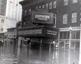 Orpheum (Cinema) during 1937 Flood (GHTC Photo)