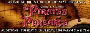 "Arts Resources Auditions for ""Pirates"" Thursday Evening"