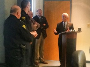 Congressman Rahall Visits HPD, Meets with Mayor Williams, Holbrook