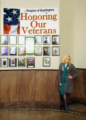 Selina at Honoring Veterans Display in Cabell County Courthouse sponsored by Hospice of Huntington.