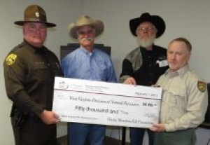 Rocky Mountain Elk Foundation presents $50,000 donation for West Virginia Elk Restoration Project