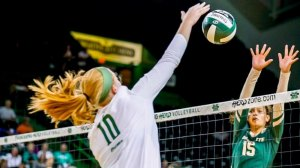 Volleyball Battles but Falls in Four at Charlotte in Season Finale