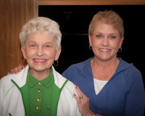 Janice Chandler Gold, shown at left with her daughter, Robin Chandler Wilks, has been recognized for her work in the Huntington musical community with a scholarship for music education at Marshall University.