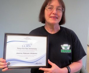 Widener recognized for 35 years of CCRN certification