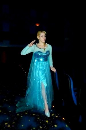 "No Spring unless she gets an Oscar. That's the word from ""Elsa"" in Disney's ""Frozen."" (The photo shows Elsa Littlepage, professional cosplayer, casting that spell.)"