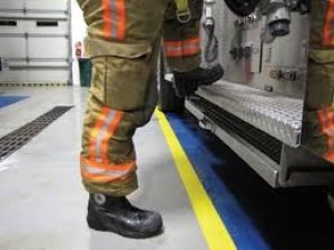 Huntington Firefighters Holding Boot Drive