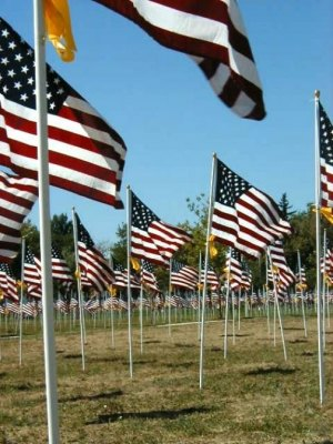 Healing Field of 3,000 Flags Only One in WV