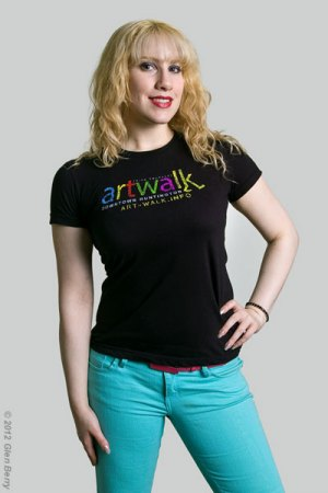 """Selina"" models Art Walk T-Shirt"