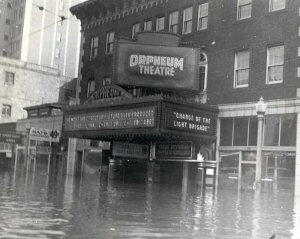 Orpheum during 1937 flood