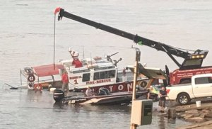 Huntington Fire Rescue Vessel Towed from Water