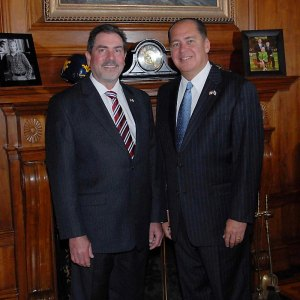 Governor Tomblin Announces the Appointment of Speaker Rick Thompson as Cabinet Secretary of West Virginia Department of Veterans Assistance