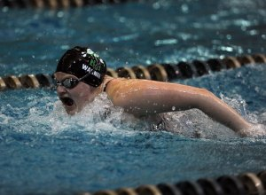 Swimming and Diving Finishes West Virginia Games
