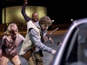"Pink Lady Intellectually Challenged Blonde Steals ""Zombieland"" Sequel from nearly Flawless Young Vets"