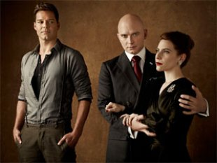 "Huntington native Michael Cerveris (center) will return to Broadway in ""Evita"" with Ricky Martin and Elena Rogers"