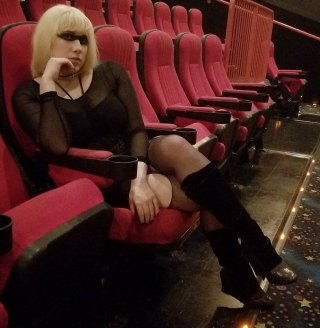 "Cosplayer ""Pris"" (Bunny Bombshell) awaits premiere of ""Blade Runner 2049.""  Daryl Hannah played Pris, a pleasure bot, in the 1982 film."
