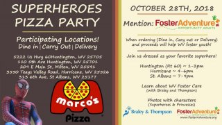 Marco's Pizza and Foster Adventure are Calling all Heroes!