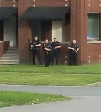 UPDATED: Arrest Made after Rifle Fire near  Huntington's Eighth Avenue