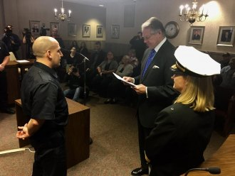 Huntington Swears in New Firefighters
