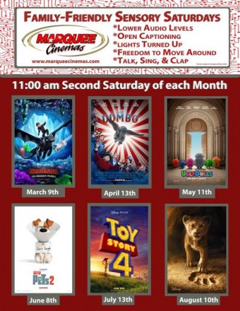 Sensory Screening for Disabled Saturday @ 11 a.m.