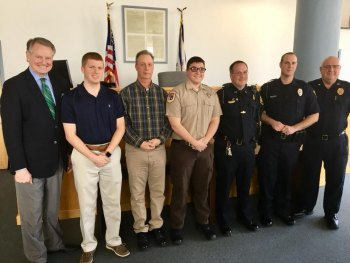 Huntington Police Promotions, Swearing in