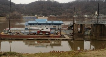 Dec. 3 photo of barge at Harris Riverfront Park