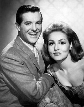 Bob Cummings and Julie Newmar