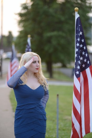 Model Elsa Littlepage salutes veterans on Memorial Day