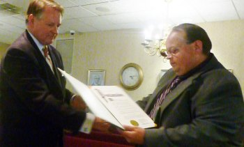 David Hagley receives Public Works Week proclamation
