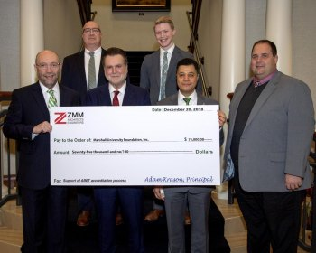 ZMM Architects and Engineers makes gift to Marshall University's  College of Information Technology and Engineering