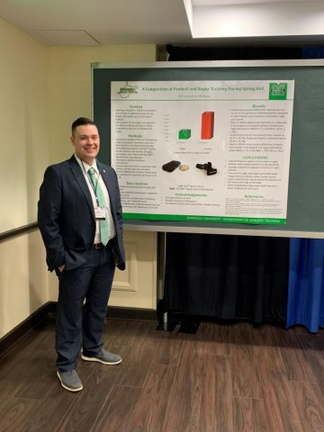 Marshall faculty members conduct concussion research to minimize brain injury in athletes;  preliminary findings shared by American Academy of Neurology