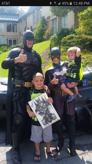 Batman Loosens Up; Come Meet Huntington's Batman