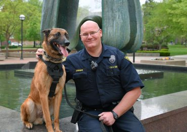 Officer Denning and Rudy Help Make Huntington Safer