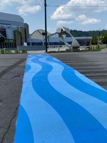 Decorative Crosswalks Installed