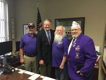 Mayor Williams Meets with Military Order of Purple Heart