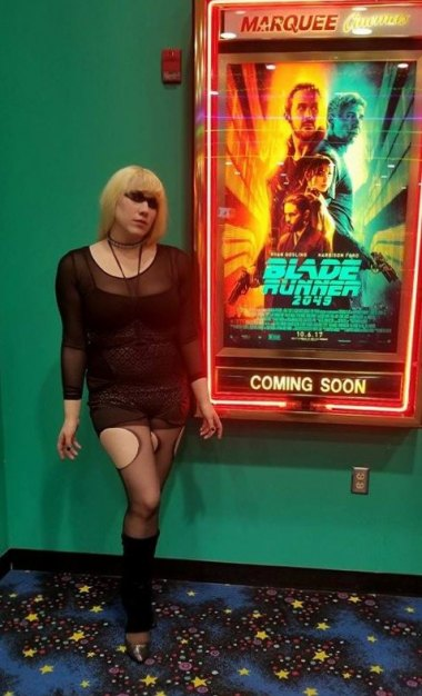 """Pris"" @ Blade Runner 2049 Premiere in Huntington. This character comes from the original film."