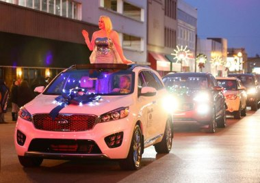Elsa of Huntington leads Christmas Parade thanks to Dutch Miller Chevrolet (Chris Miller)