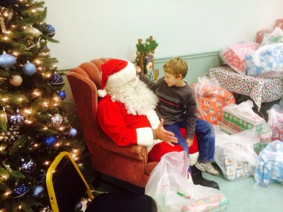 Fire Department Holds Kid's Christmas Party at Huntington City Mission