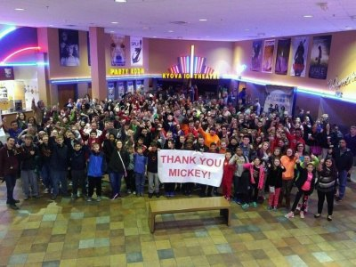 Ironton Middle School students after the screening of Hidden Figures. 303 students were able to attend. Thanks Mickey Fisher and George Bagnoli!!