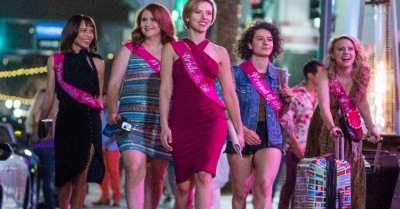 "FIRST LOOK: Both Women and Men Laugh Through ""Rough Night"" pre-nuptial Celebration"
