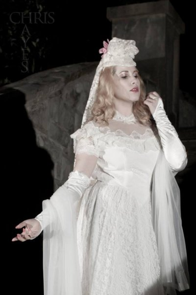 Elsa Littlepage as the legendary bridal phantom