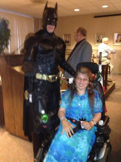 """Batman"" and Council Woman Rebecca Thacker"