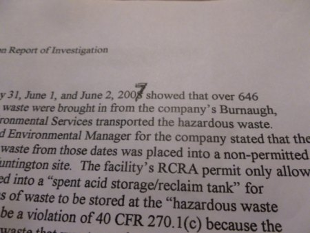 Special Metals Paid $110,024 Penalty for Disposing 646,000 pounds of Hazardous  Chromium Rinse Water; High Levels of Carcinogenic Erin Brockovich Chemical One Concern of Alleged Violation(s)